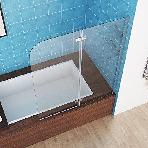 100 120 x 140 cm badewannen 2 tlg faltwand aufsatz 180 duschwand duschabtrennung nano glas. Black Bedroom Furniture Sets. Home Design Ideas