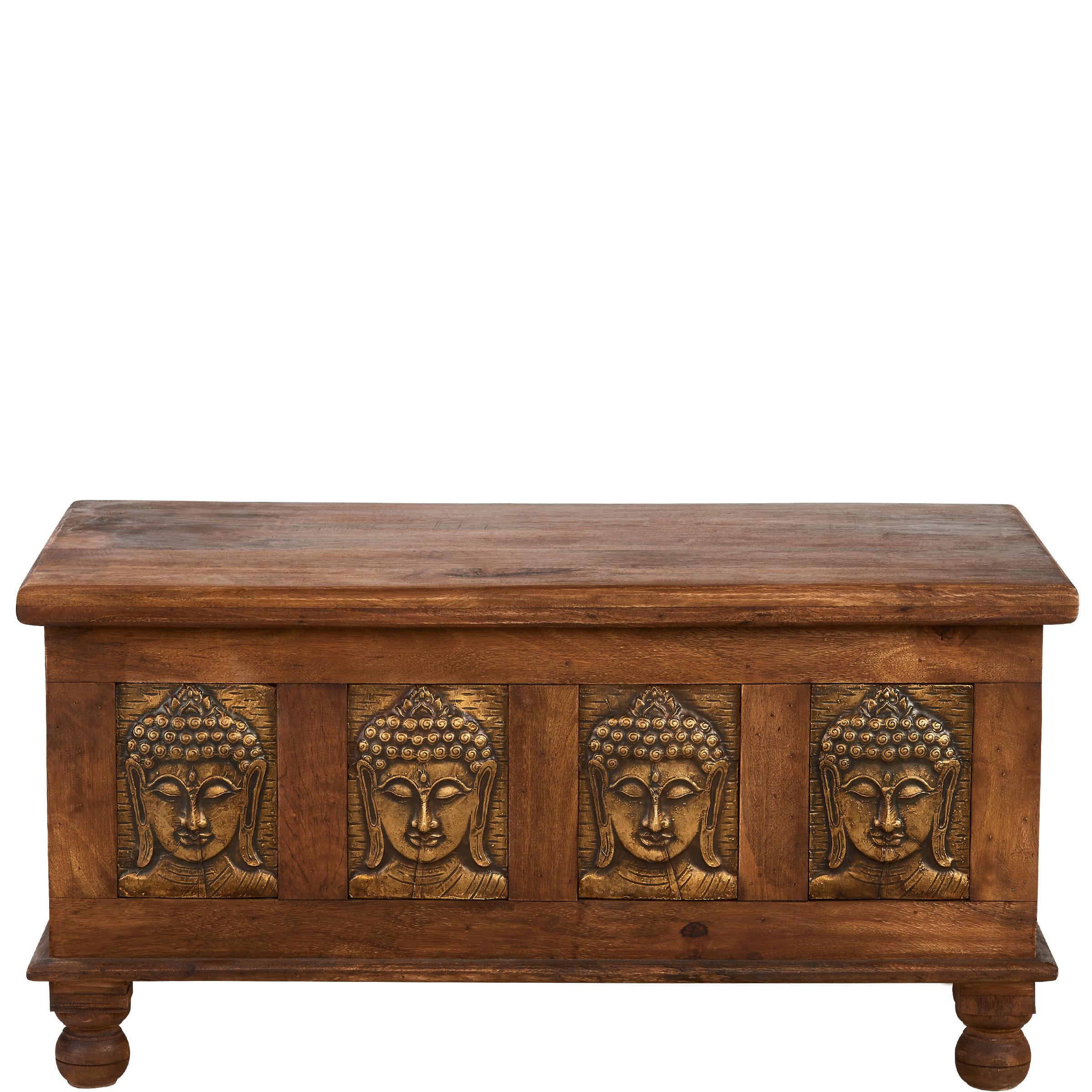 treasure truhe mit buddah messingplatten m bel24. Black Bedroom Furniture Sets. Home Design Ideas