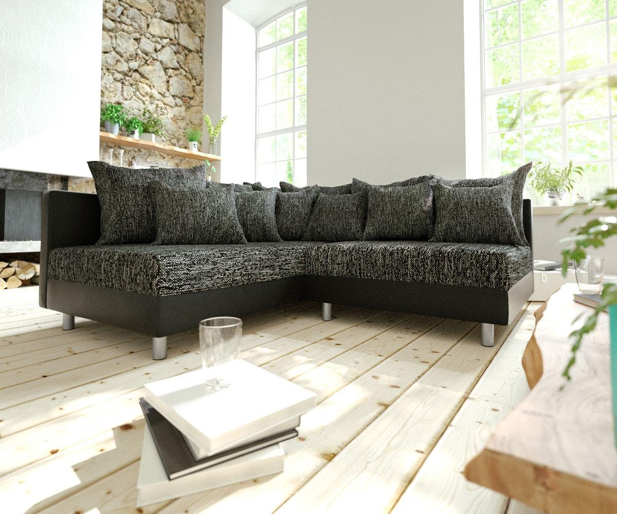 10647 ecksofa clovis schwarz ottomane links eckso 8 m bel24 for Moebel24 shop