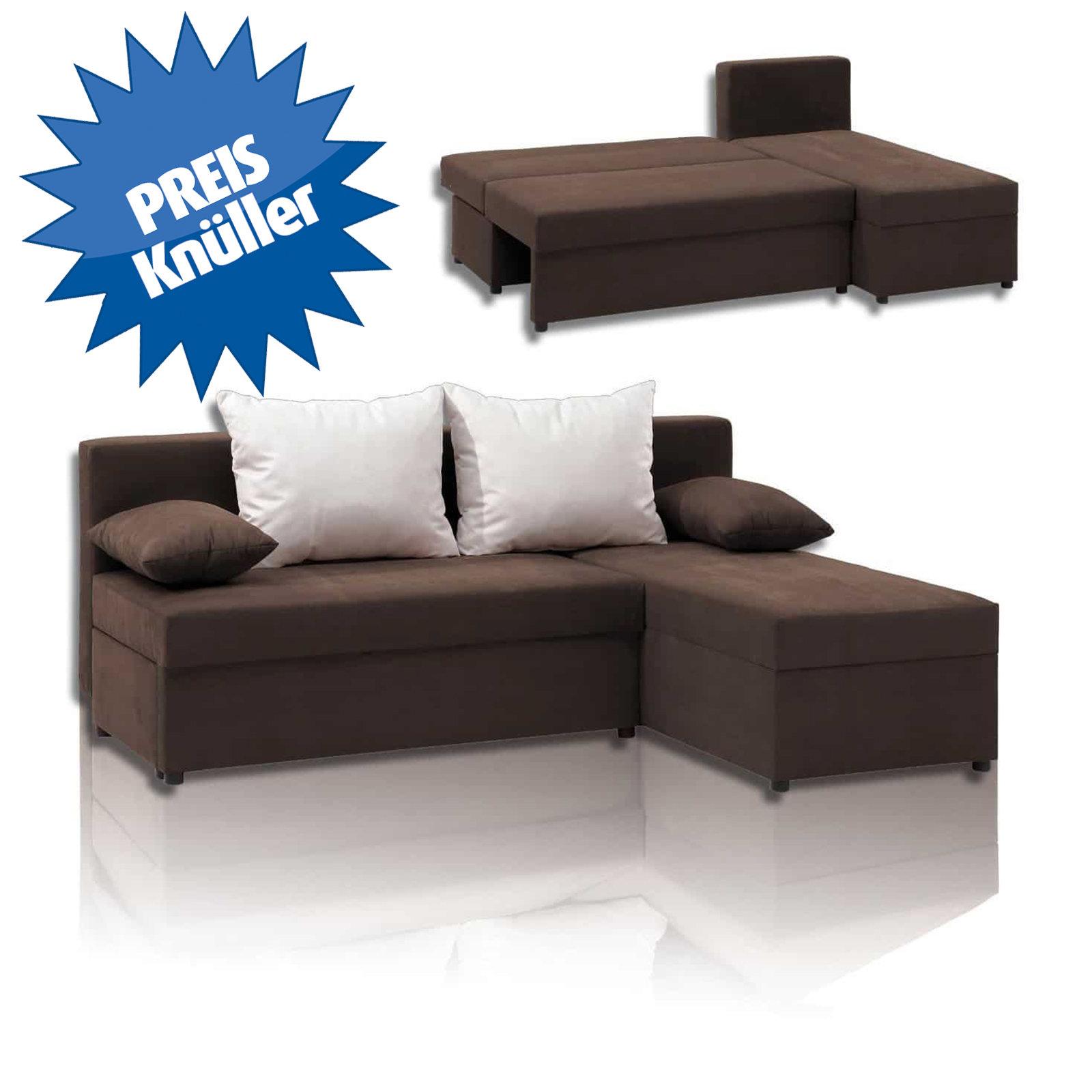 polsterecke braun mit liegefunktion m bel24. Black Bedroom Furniture Sets. Home Design Ideas