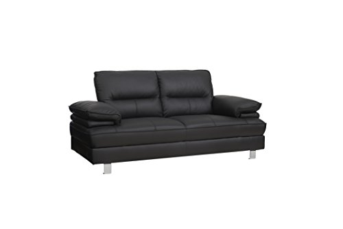 2 sitzer sofa sille in schwarz couch couchgarnitur wohnlandschaft ledercouch m bel24. Black Bedroom Furniture Sets. Home Design Ideas