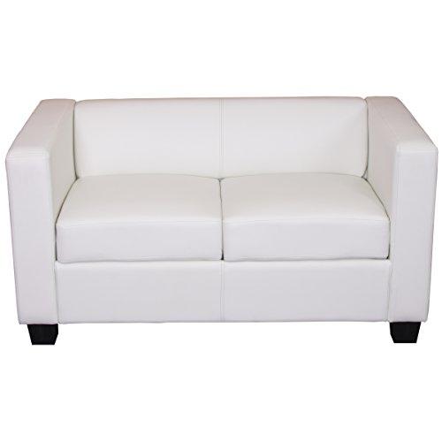 2er sofa couch loungesofa lille kunstleder wei m bel24. Black Bedroom Furniture Sets. Home Design Ideas