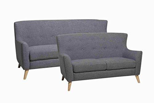 3 sitzer sofa swan in schwarz couch couchgarnitur for Wohnlandschaft retro