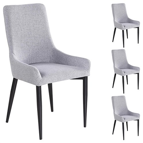 4er set esszimmerstuhl k chenstuhl stuhlgruppe essstuhl stuhl kylie stoff grau m bel24. Black Bedroom Furniture Sets. Home Design Ideas