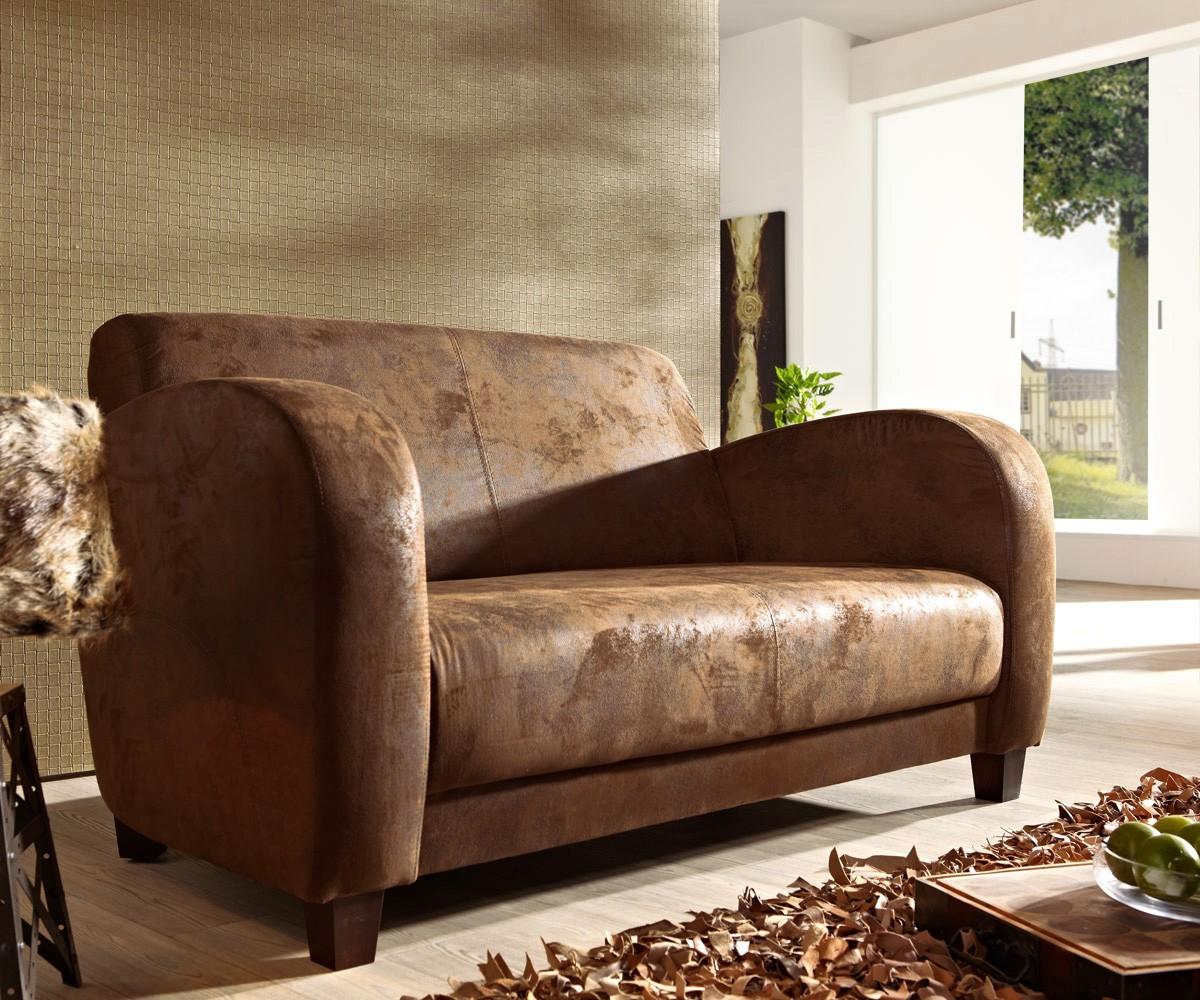 6190 sofa vernice 155x90 cm braun wildlederoptik 2 3 m bel24. Black Bedroom Furniture Sets. Home Design Ideas