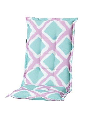 8 cm luxus hochlehner auflage c 341 rosa t rkis kariert m bel24. Black Bedroom Furniture Sets. Home Design Ideas