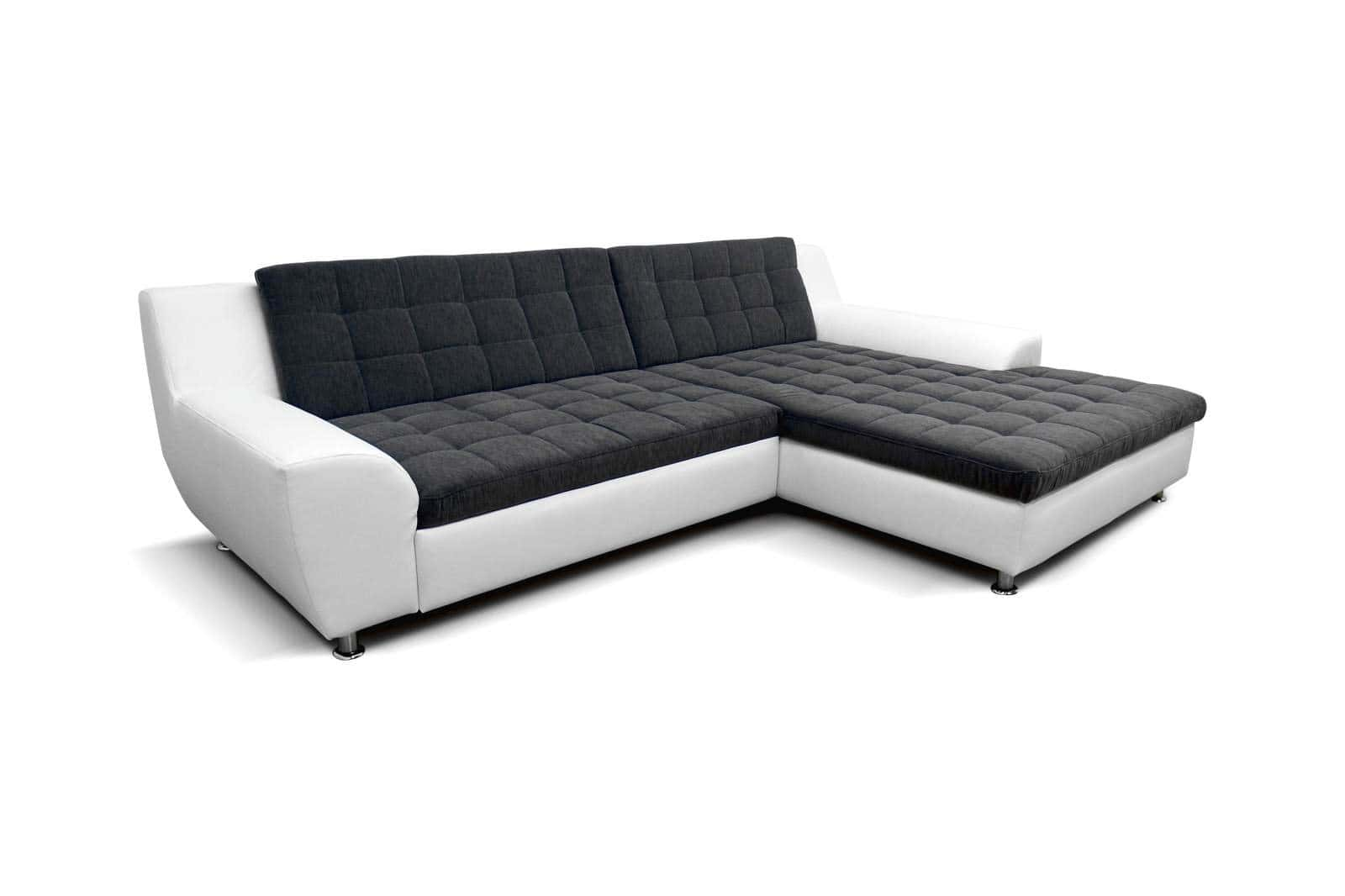 polsterecke morton wei dunkelgrau recamiere rechts. Black Bedroom Furniture Sets. Home Design Ideas