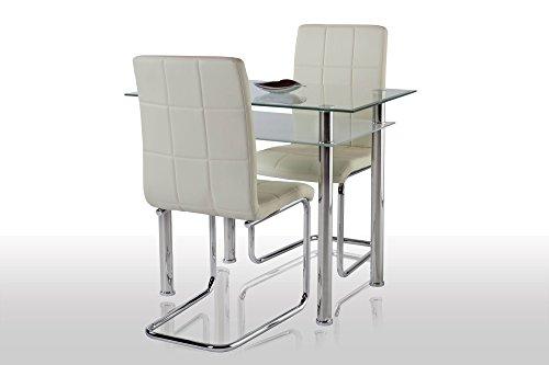 agionda esstischset tabola 90x60 mit 2 freischwinger. Black Bedroom Furniture Sets. Home Design Ideas