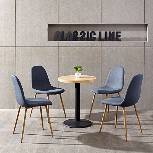 Aingoo 4stkkchenstuhl metallbeine stuhl bistrostuhl eiffel for Stuhl metallbeine