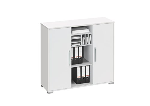 aktenregal b roschrank maja system sideboard in icy wei. Black Bedroom Furniture Sets. Home Design Ideas