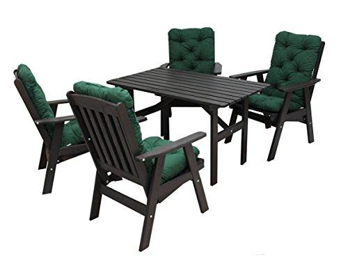 ambientehome 90497 gartengarnitur gartenset sitzgruppe verstellbarer hochlehner varberg taupe. Black Bedroom Furniture Sets. Home Design Ideas