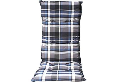 auflage gartenstuhl borkum blau grau kariert hochlehner 0 m bel24. Black Bedroom Furniture Sets. Home Design Ideas