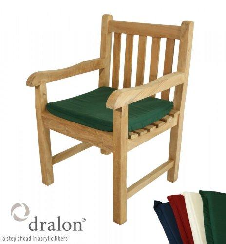 auflage f r gartenstuhl aus lichtechtem dralon 50 x 45 cm maschinenwaschbar verschiedene farben. Black Bedroom Furniture Sets. Home Design Ideas