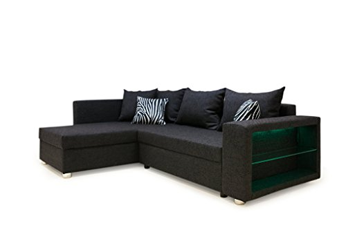 b famous 100613 passau polsterecke ecksofa mit led rgb. Black Bedroom Furniture Sets. Home Design Ideas