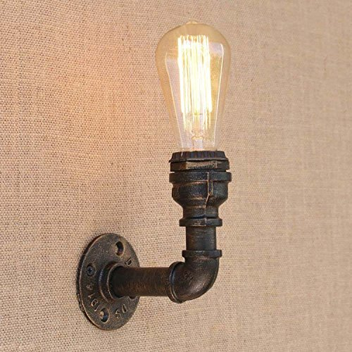 baycheer industrie wandlampe editon wandleuchte steampunk rohr jahrgang e27 220 240v. Black Bedroom Furniture Sets. Home Design Ideas