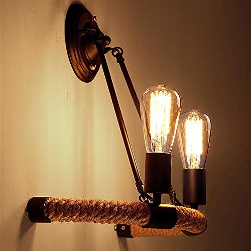 baycheer loft vintage seil wandleuchte antik retro. Black Bedroom Furniture Sets. Home Design Ideas