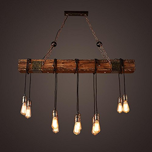 bjvb drei vintage industrie holz anh nger lampe. Black Bedroom Furniture Sets. Home Design Ideas
