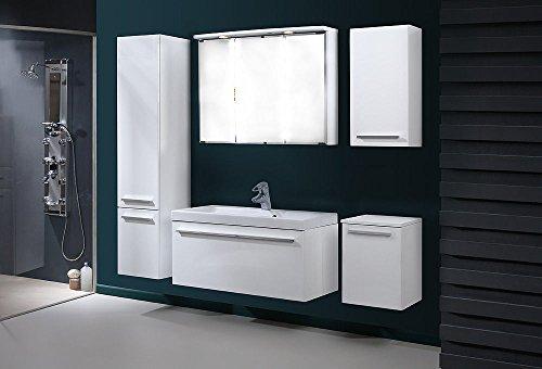 badm bel set atos 80cm hochglanz badm bel mit. Black Bedroom Furniture Sets. Home Design Ideas