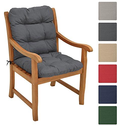 beautissu niedriglehner auflage flair nl 100x50x8cm sitzkissen r ckenkissen mit. Black Bedroom Furniture Sets. Home Design Ideas
