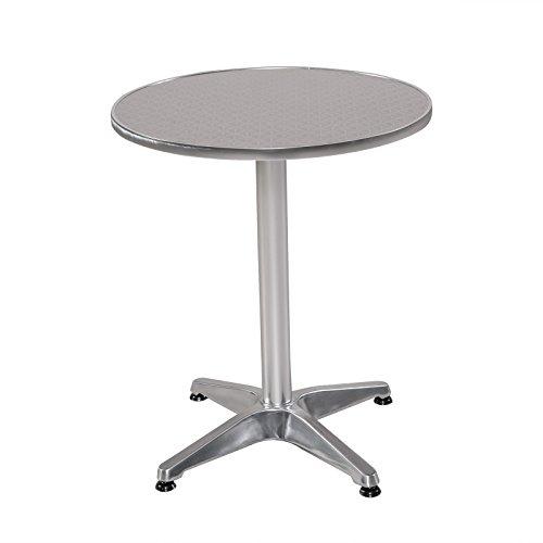 Bistrotisch rund Aluminium Gartentisch Alu Tisch Beistelltisch Bistro Tisch 60 cm Durchmesser