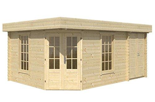 blockhaus aberdeen 350 150 x 350cm gartenhaus 45mm holzhaus m bel24. Black Bedroom Furniture Sets. Home Design Ideas