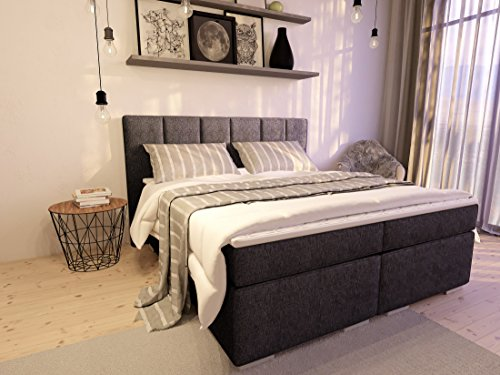 boxspringbett ka line mit f en polsterbett premium hotelbett bett amerikanische doppelbett. Black Bedroom Furniture Sets. Home Design Ideas
