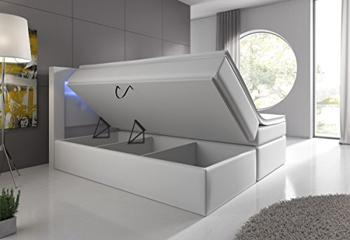 boxspringbett mit bettkasten led kopflicht hotelbett venedig lift m bel24. Black Bedroom Furniture Sets. Home Design Ideas