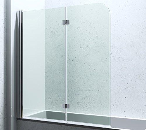 bxh 117 141 cm duschabtrennung duschwand f r badewanne aus glas badewannenfaltwand cortona1408. Black Bedroom Furniture Sets. Home Design Ideas