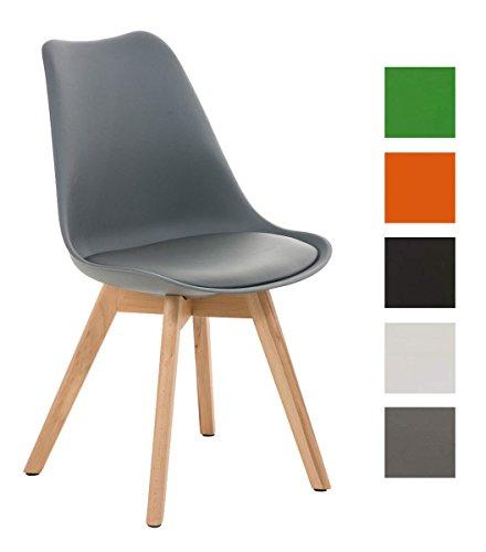 clp design retro stuhl borneo holzgestell sitz kunststoff kunstleder gepolstert m bel24. Black Bedroom Furniture Sets. Home Design Ideas