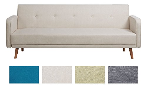 clp klapp sofa schlafsofa ebba stoffbezug ca 200 x 80 cm stilvolle zierkn pfe dicke. Black Bedroom Furniture Sets. Home Design Ideas