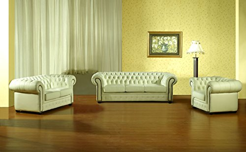 chesterfield 3 2 1 w ledersofas ledercouch ledergarnitur. Black Bedroom Furniture Sets. Home Design Ideas
