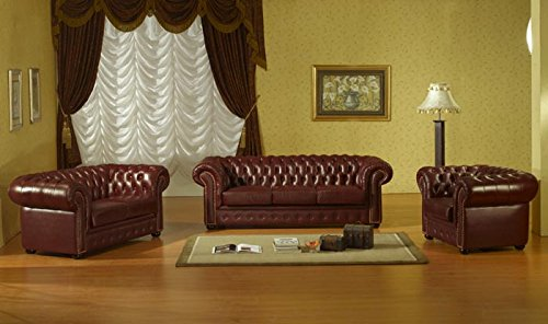 chesterfield 3 2 1 braun ledersofas ledercouch ledergarnitur m bel24. Black Bedroom Furniture Sets. Home Design Ideas