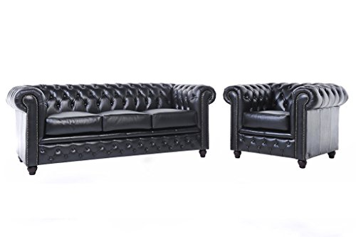 chesterfield showroom original chesterfield sofa couch 1 3 sitzer echtes leder. Black Bedroom Furniture Sets. Home Design Ideas