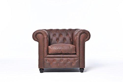 Chesterfield Showroom - Original Chesterfield Sofa / Couch - In verschiedene Farben & Größen - Echtes Leder handgewischt