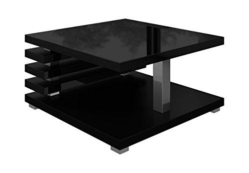 Couchtisch Oslo 60 x 60 cm (schwarz hochglanz)  MOEBEL24