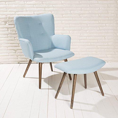 design polstersessel sessel roma himmel blau armlehnenstuhl fu bank stoff holz m bel24. Black Bedroom Furniture Sets. Home Design Ideas