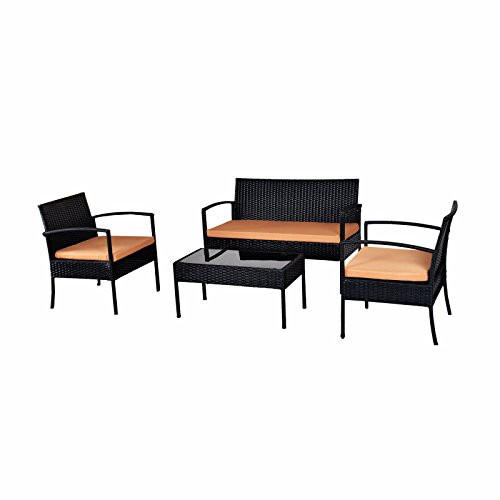 ebs polyrattan gartenmbel set gartengarnitur sitzgruppe lounge 1 tisch 1 kleines sofa 2 sthle. Black Bedroom Furniture Sets. Home Design Ideas