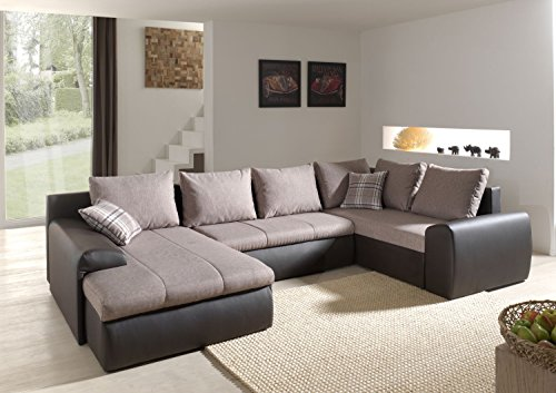 ecksofa normandy mit bettfunktion schlaffunktion wohnlandschaft couch 01659 m bel24. Black Bedroom Furniture Sets. Home Design Ideas