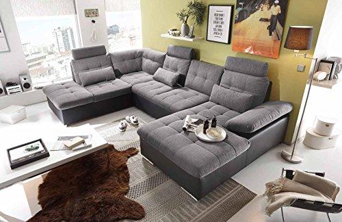 ecksofa sofaecke wohnlandschaft couch u form. Black Bedroom Furniture Sets. Home Design Ideas