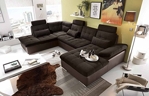 ecksofa sofaecke wohnlandschaft couch u form. Black Bedroom Furniture Sets. Home Design Ideas
