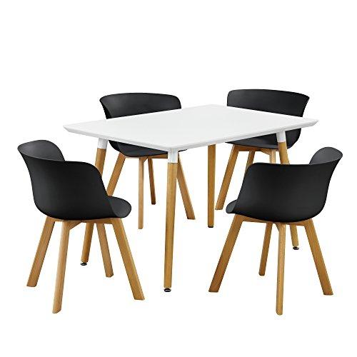 esstisch mit 4 st hlen farbe ausw hlbar m bel24. Black Bedroom Furniture Sets. Home Design Ideas