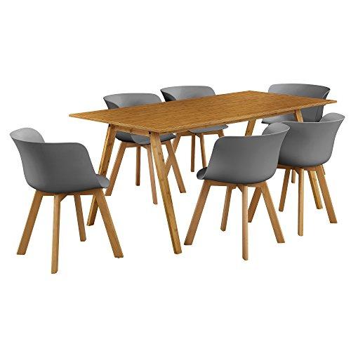 esstisch mit 6 st hlen farbe ausw hlbar m bel24. Black Bedroom Furniture Sets. Home Design Ideas