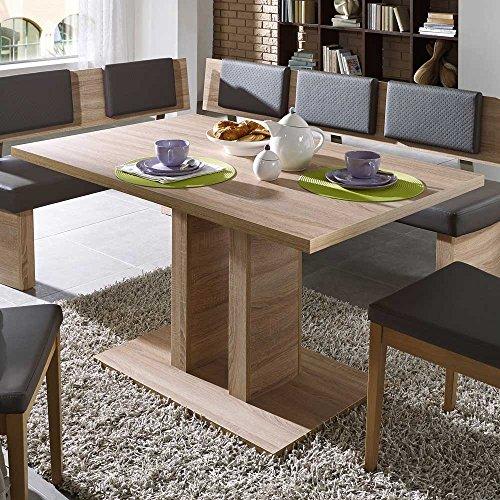 esszimmertisch mit s ulengestell eiche sonoma pharao24 m bel24. Black Bedroom Furniture Sets. Home Design Ideas