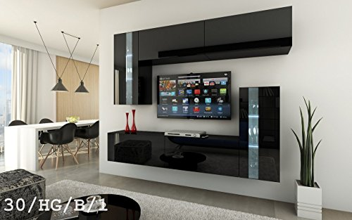 Future 30 moderne wohnwand exklusive mediambel tv schrank for Exklusive wohnwand