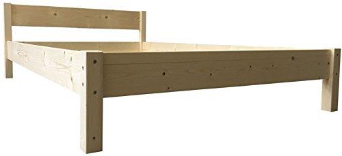 futonbett mit kopfteil holz bett massiv holzbett 90 100. Black Bedroom Furniture Sets. Home Design Ideas