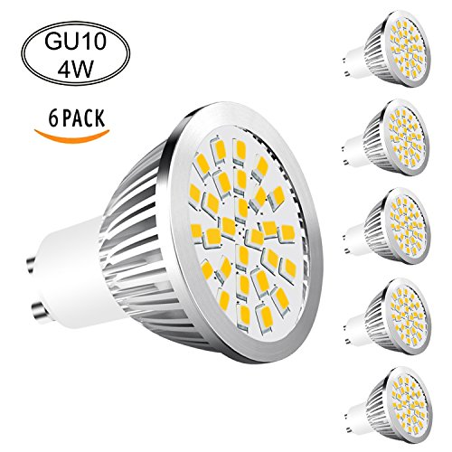 gu10 led lampen aptoyu 6er pack 4w led leuchtmittel ersatz f r 40 50w halogenlampen 350lm. Black Bedroom Furniture Sets. Home Design Ideas