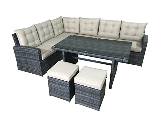 garten lounge set la palma in grau sitzecke aus polyrattan sitzgruppe m bel24. Black Bedroom Furniture Sets. Home Design Ideas