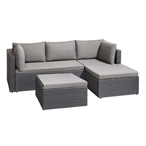 gartenlounge polyrattan outliv basel g nstiges lounge set. Black Bedroom Furniture Sets. Home Design Ideas