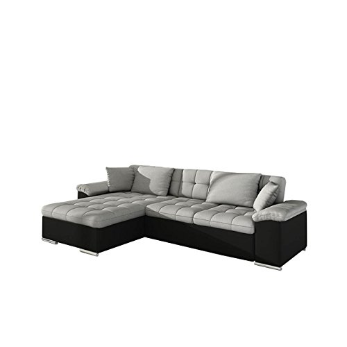 groes design ecksofa diana eckcouch mit bettkasten und schlaffunktion elegante couch moderne. Black Bedroom Furniture Sets. Home Design Ideas