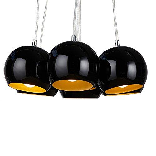 h ngeleuchte h ngelampe pendelleuchte retrodesign schwarz gold m bel24. Black Bedroom Furniture Sets. Home Design Ideas